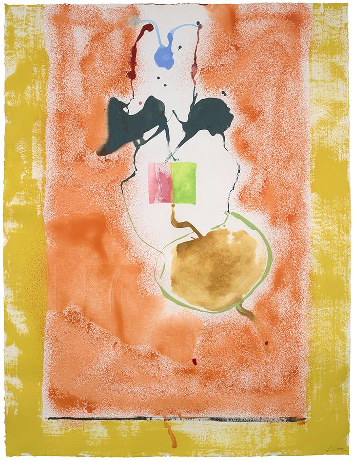 Helen Frankenthaler, <i>Solar Imp</i>, Acrylic on paper, 78 x 59 3/4 in. © 2021 Helen Frankenthaler Foundation, Inc./ Artists Rights Society (ARS), New York