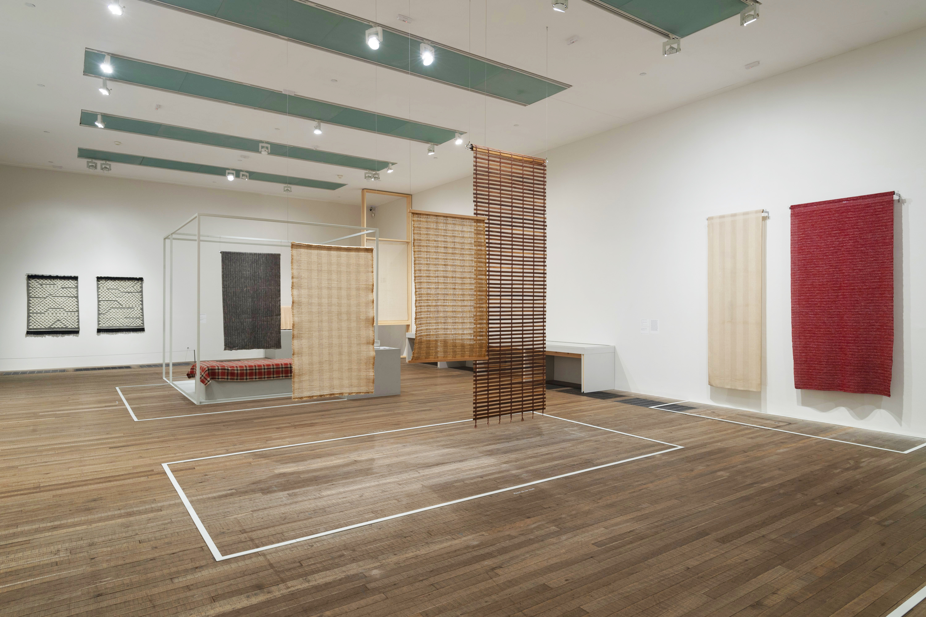 """Installation view of Anni Albers at Tate Modern"" 2018 Image Courtesy of the Josef and Anni Albers Foundation"