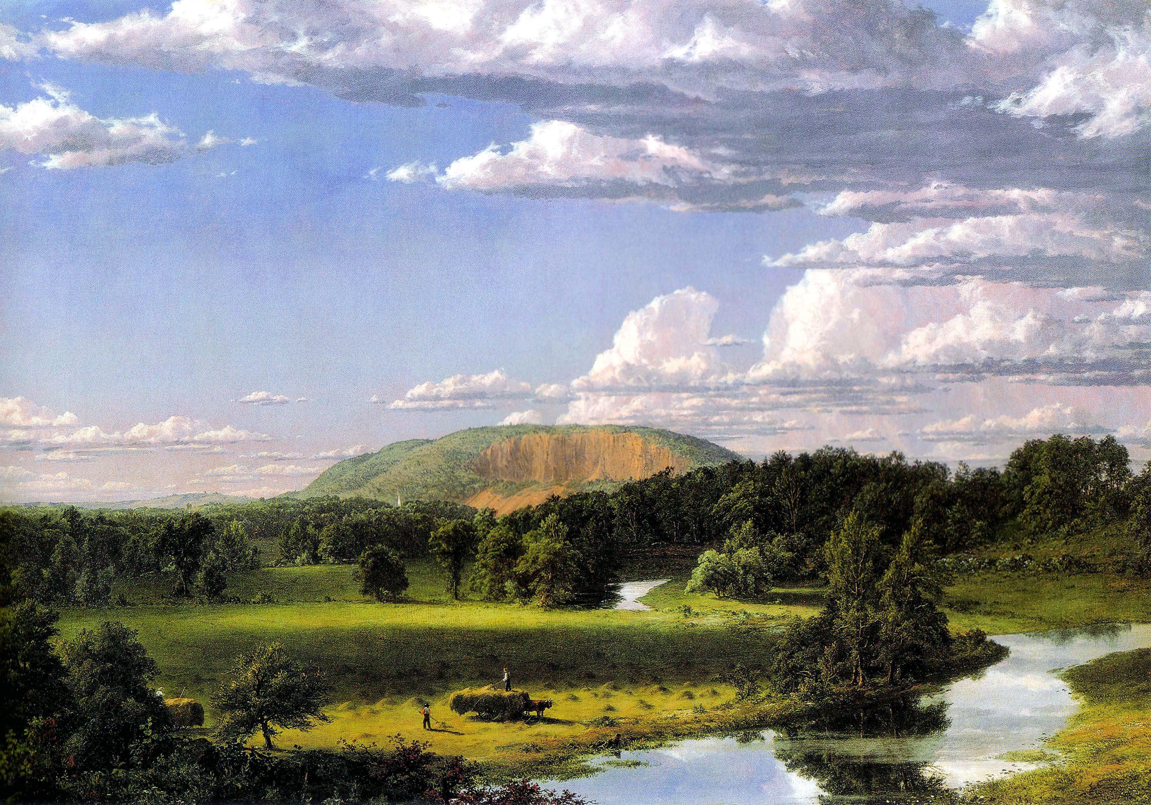 "Frederic Edwin Church, ""West Rock, New Haven,"" ca. 1849, Oil on canvas, 27 1/8 x 40 1/8 in., John Butler Talcott Fund"