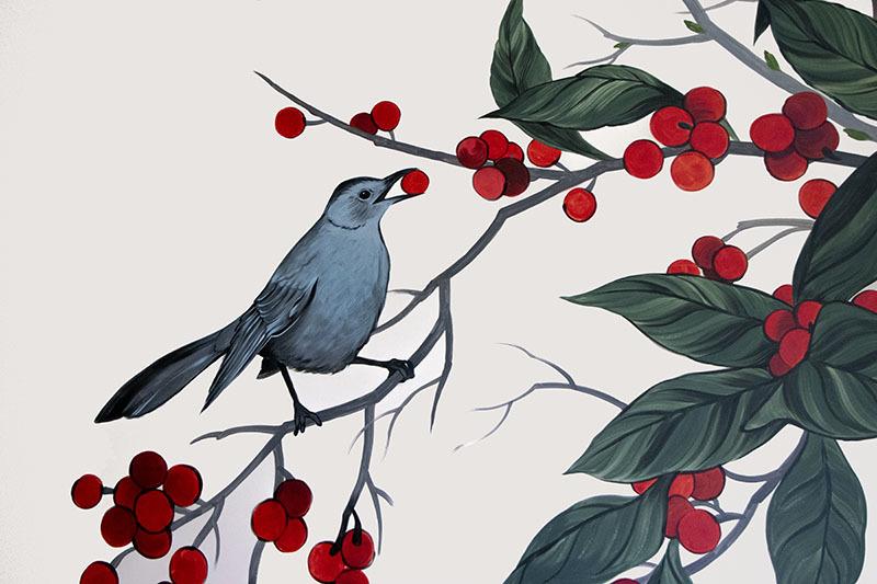 """Louise Jones, """"Winter, Spring, Summer, Fall,"""" 2019, Medium Site-specific installation, (detail)"""