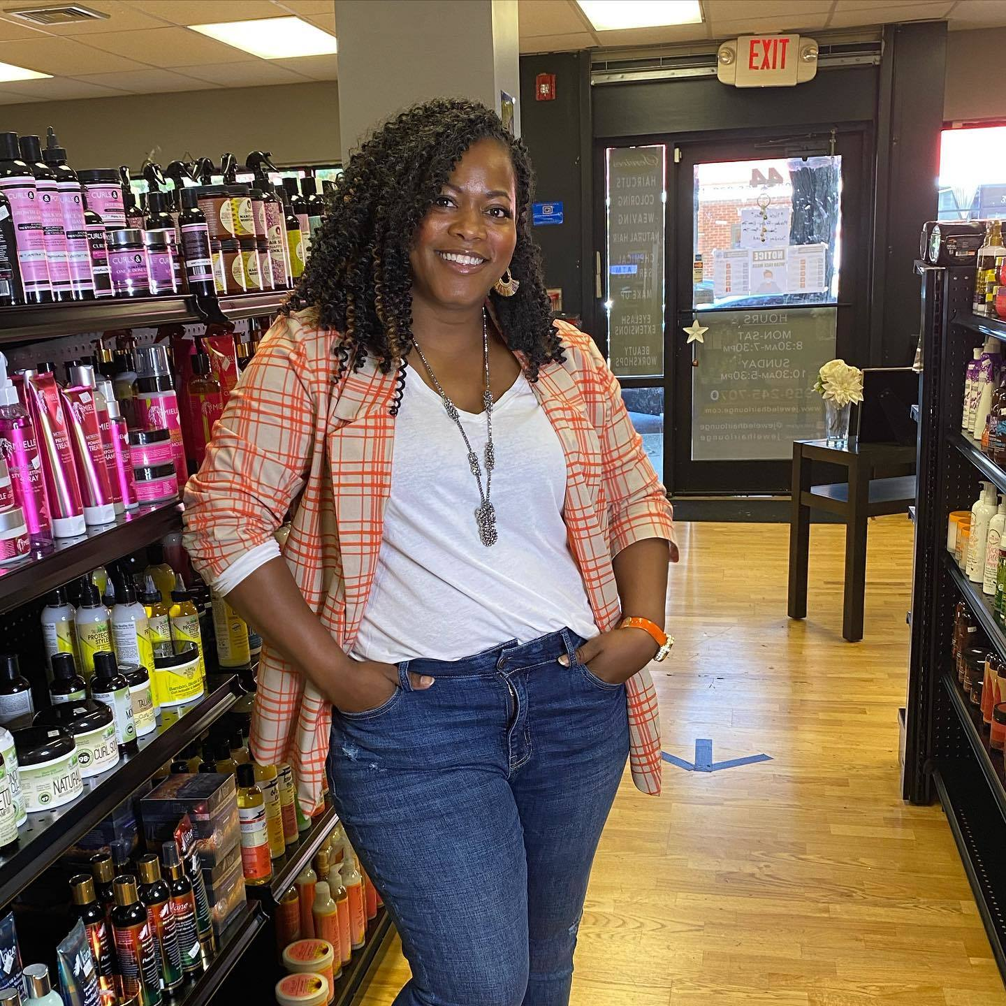 Adrian Goodwin, Co-Owner of Jeweled Hair Lounge and Beauty Supply
