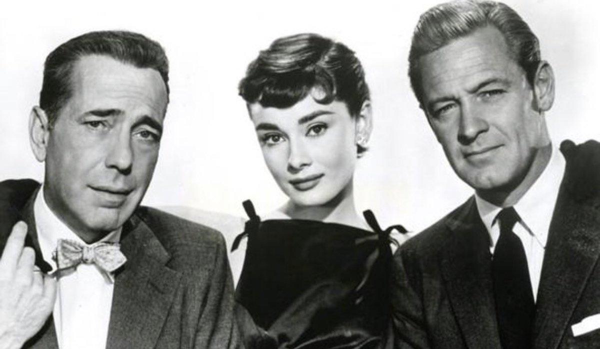 "From left, Humphrey Bogart, Audrey Hepburn, and Willilam Holden, star in ""Sabrina"""
