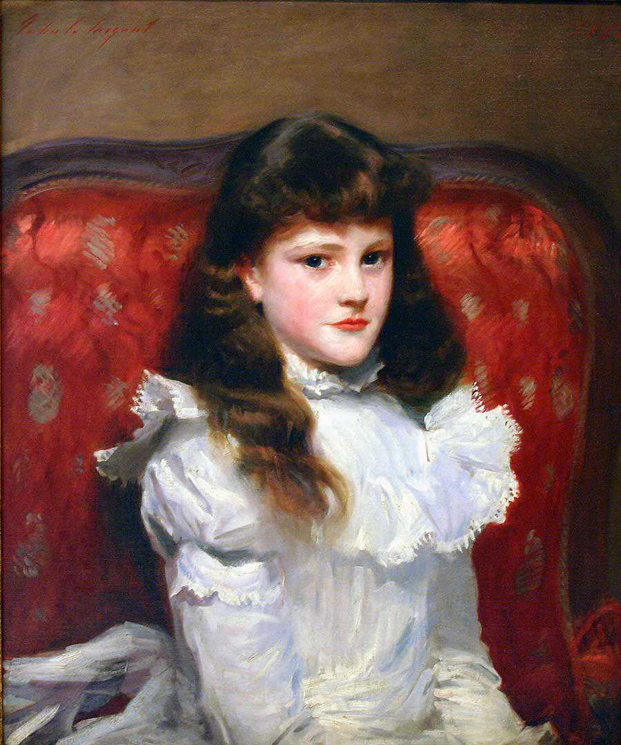 John Singer Sargent, <i>Miss Cara Burch,</i> 1888, Oil on canvas, 30 x 25 1/4 in.