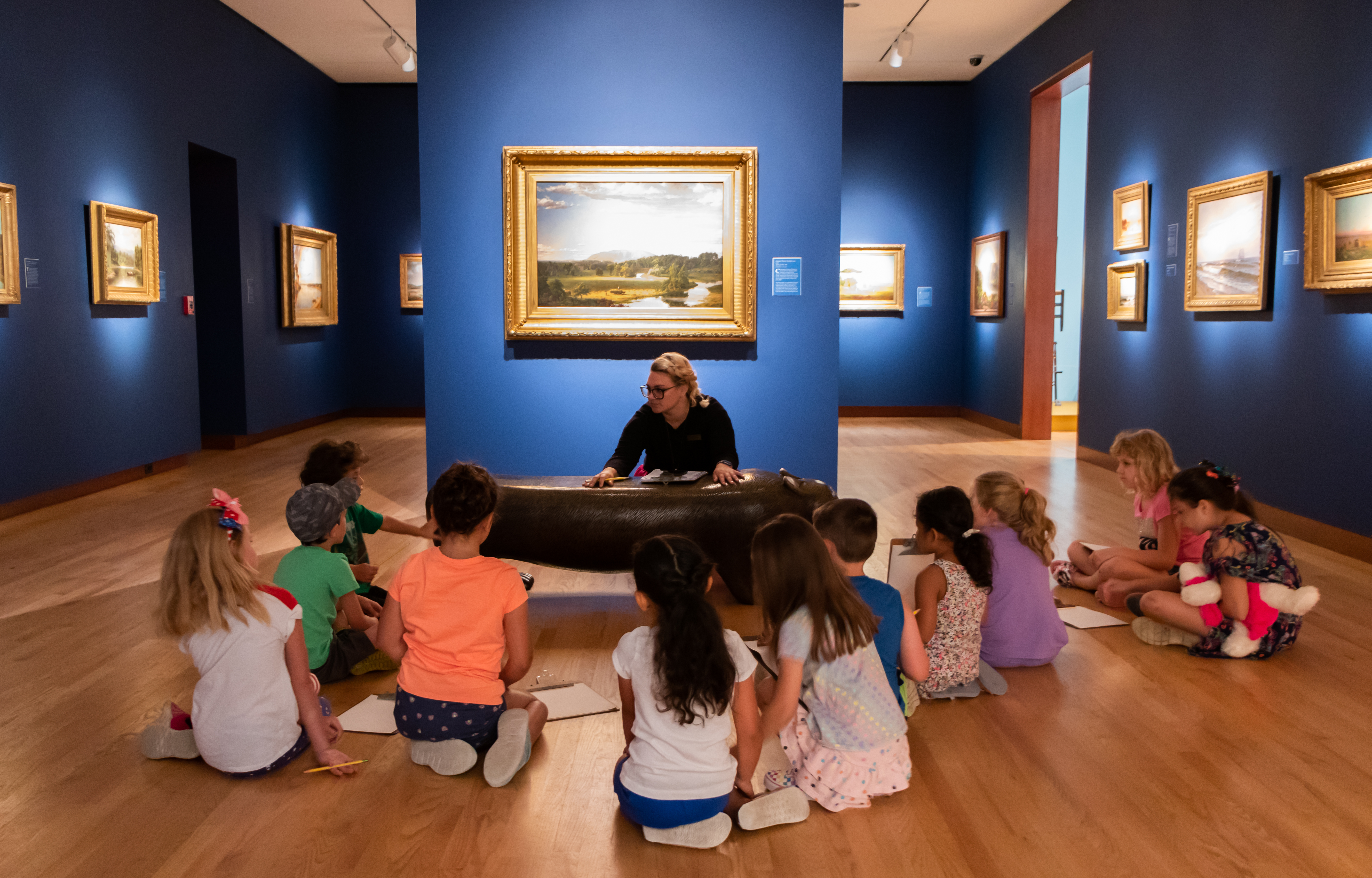 Students Explore the Galleries