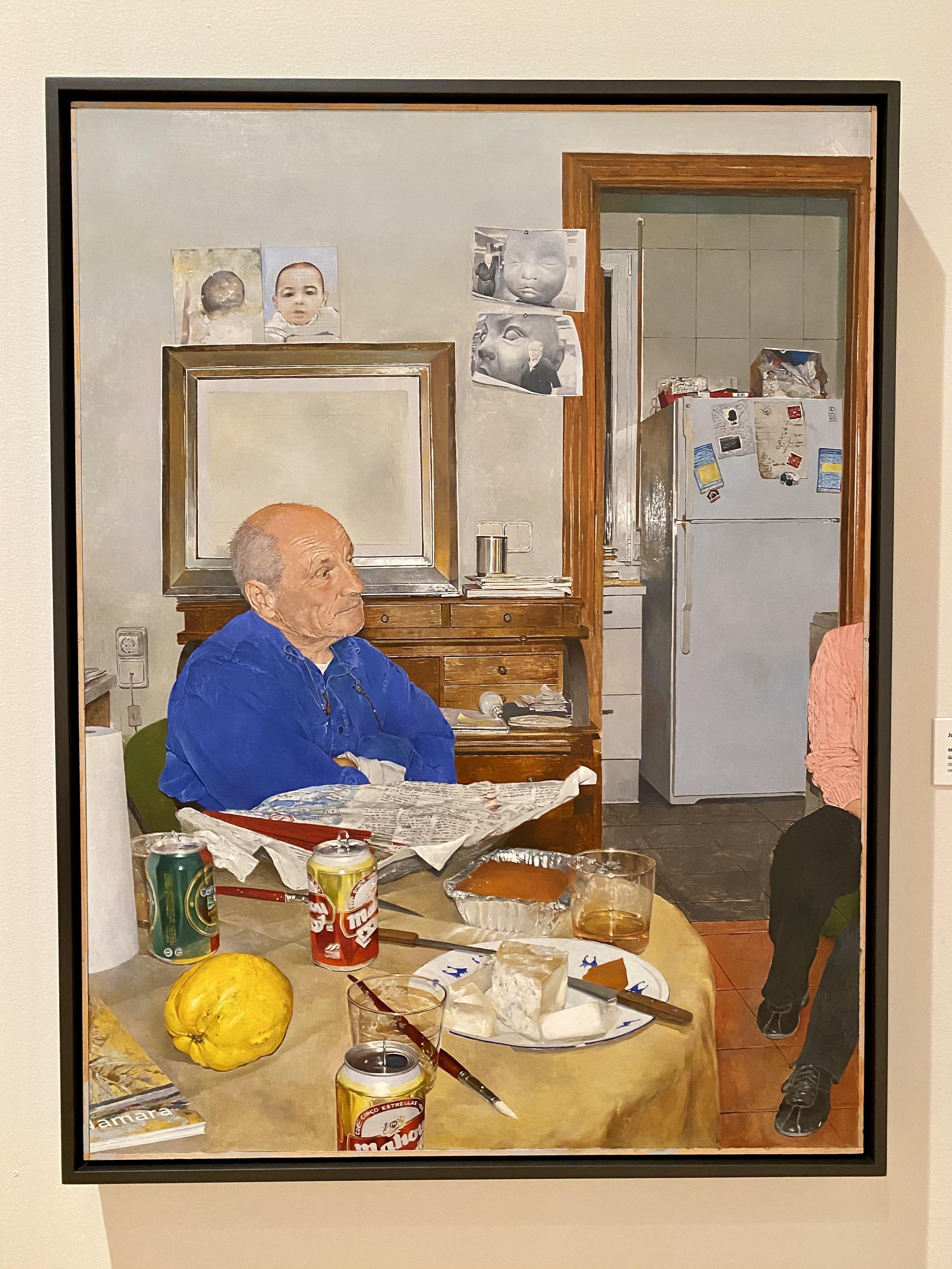 Joseph McNamara, <i>Madrid Interior (Portrait of Antonio Lopez Garcia)</i>, 2015, Oil on board, Gift of Gail and Arnst von Metzsch