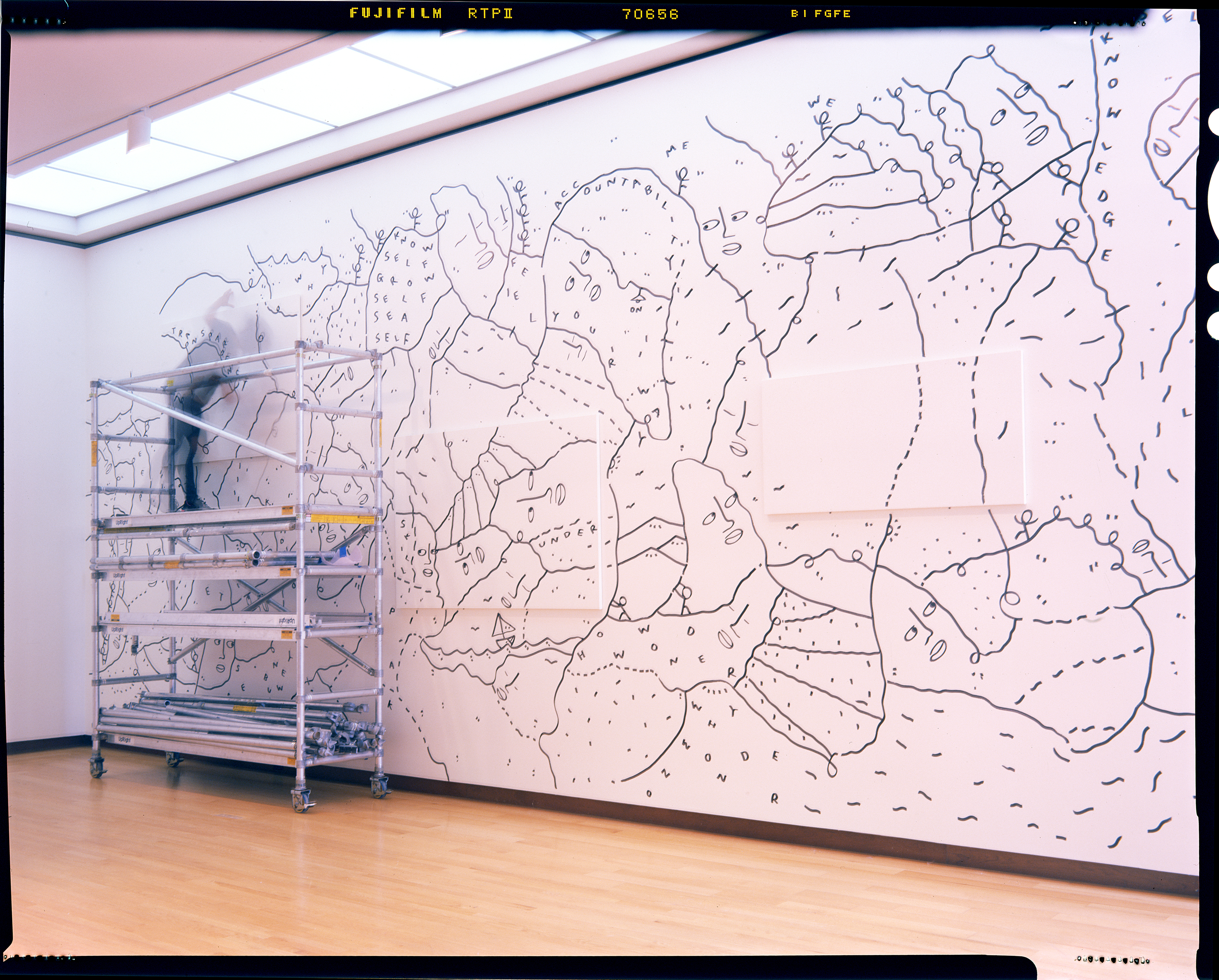 """Shantell Martin, Digital Image from 4"""" x 5"""" film negative, Photo by Theo Coulombe"""