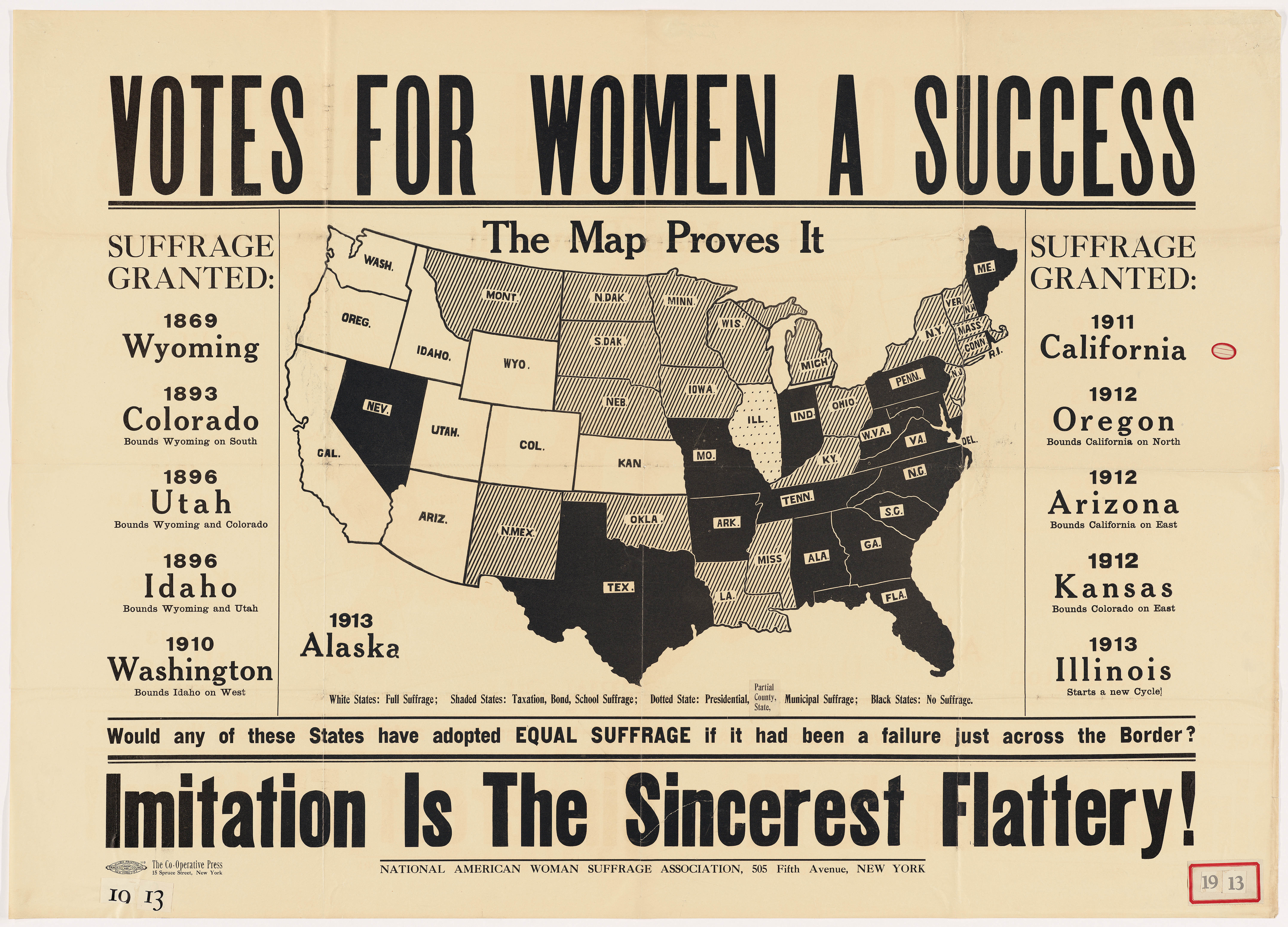 <i>Votes for Women a Success, Imitation is the Sincerest Flattery!!</i>