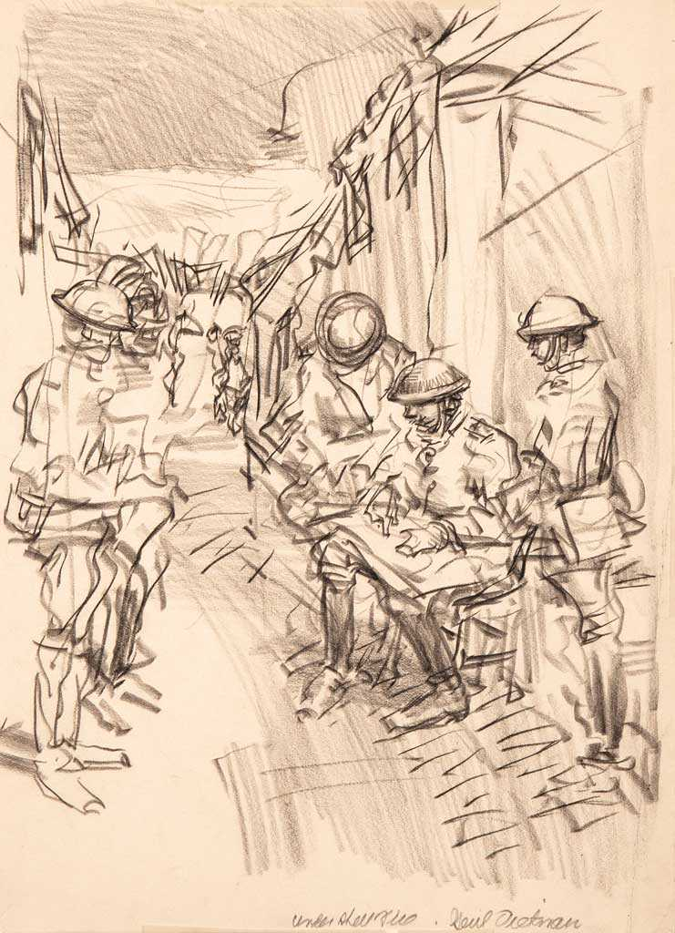 Untitled (WWI Trench Sketch)