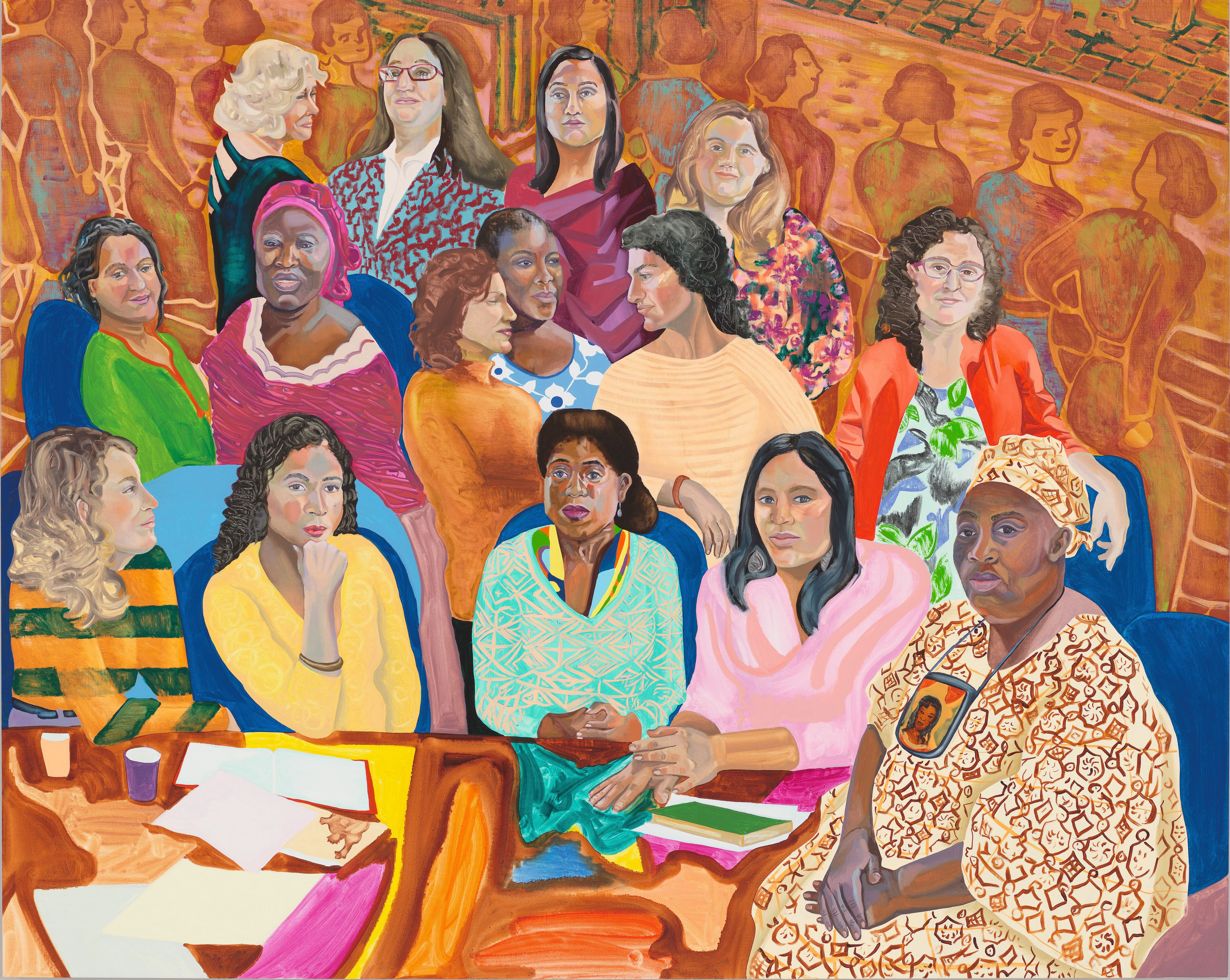 Aliza Nisenbaum, <i> MOIA's NYC Women's Cabinet</i>, 2016 Oil on linen 68 × 85 in.