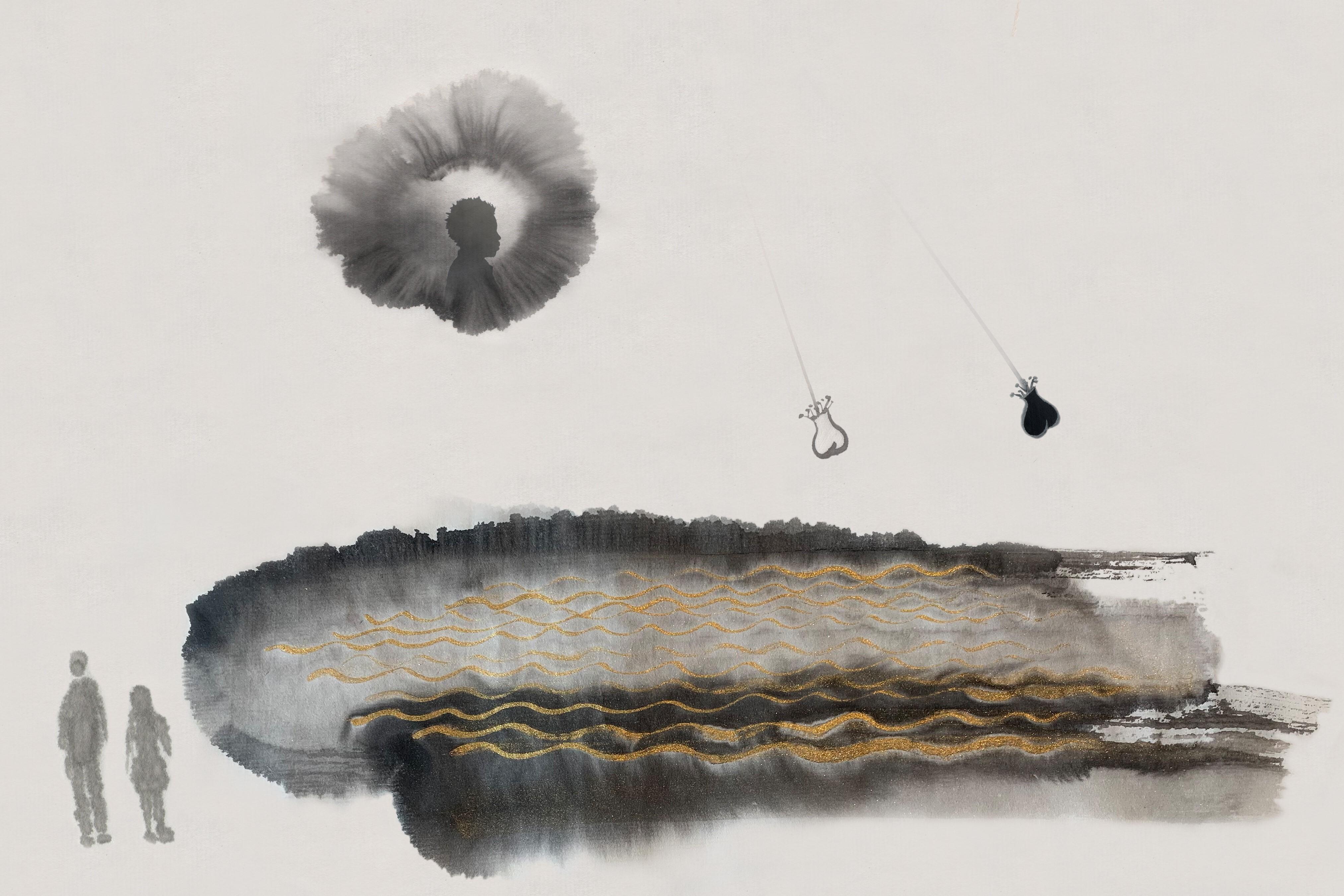 Jennifer Wen Ma, Rendering of <i>An Inward Sea</i>, 2020